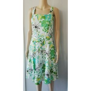 Breakin' Loose Green and white Floral Midi Dress